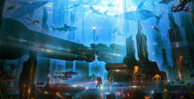 Cute Wallpaper For S5 Desktop Wallpaper Underwater City Atlantis Hd Image