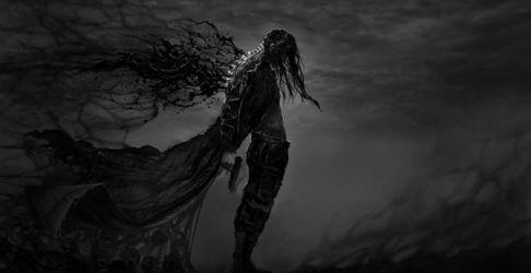 Desktop wallpaper dark fantasy hatred warrior video game art hd image picture background 40f13d