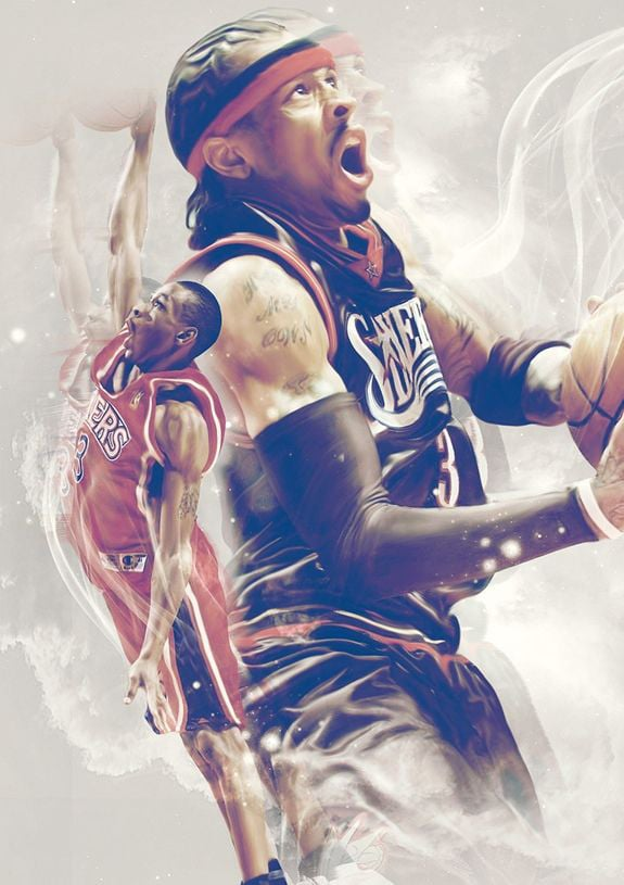 Sixers Iphone Wallpaper 26 Allen Iverson Wallpapers Hd Free Download