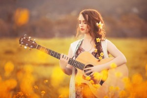 Xmas Tree Hd Wallpaper Wallpapers Girl With Guitar Hd Download