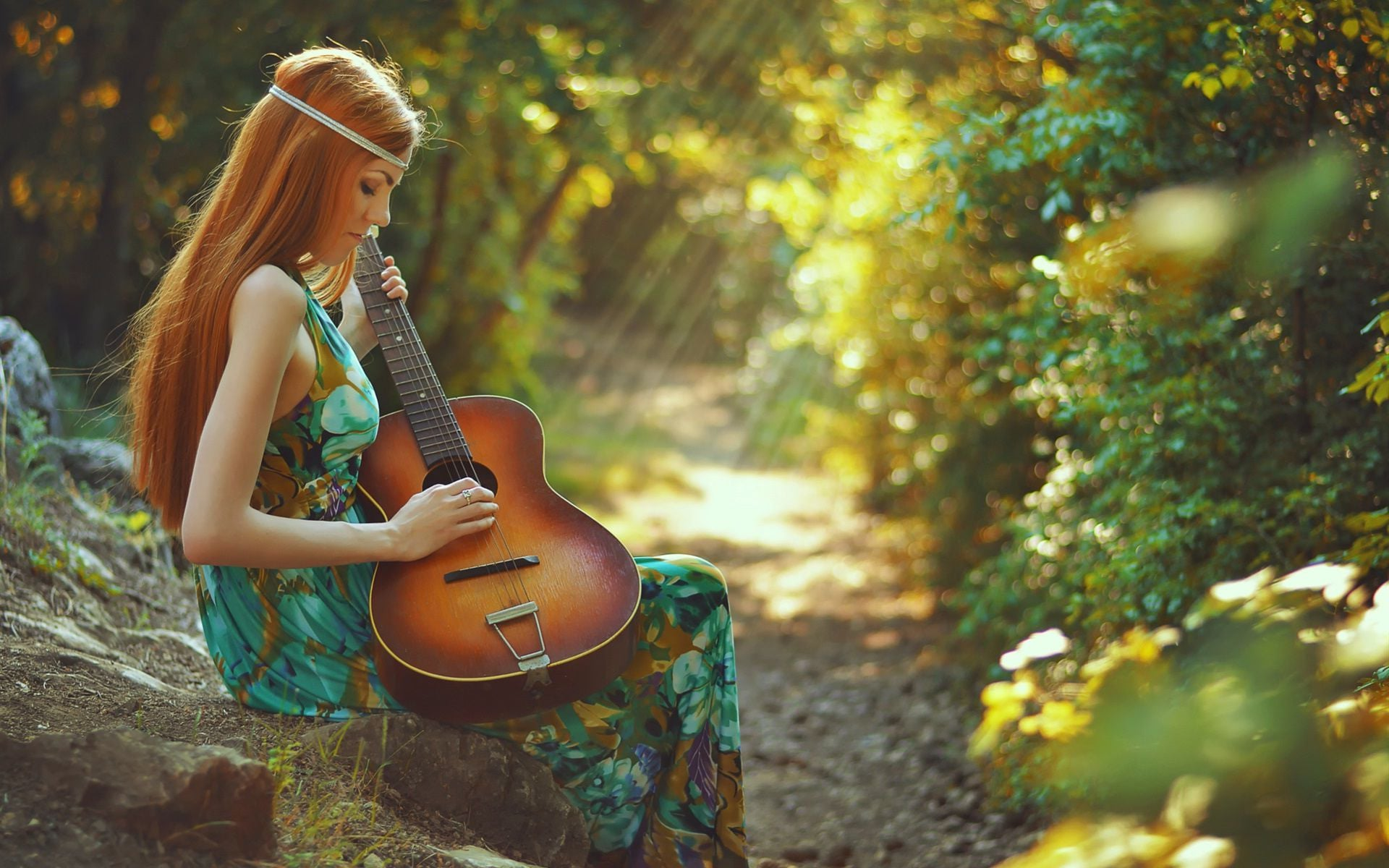 Baby Girl Hd Wallpaper Download Wallpapers Girl With Guitar Hd Download