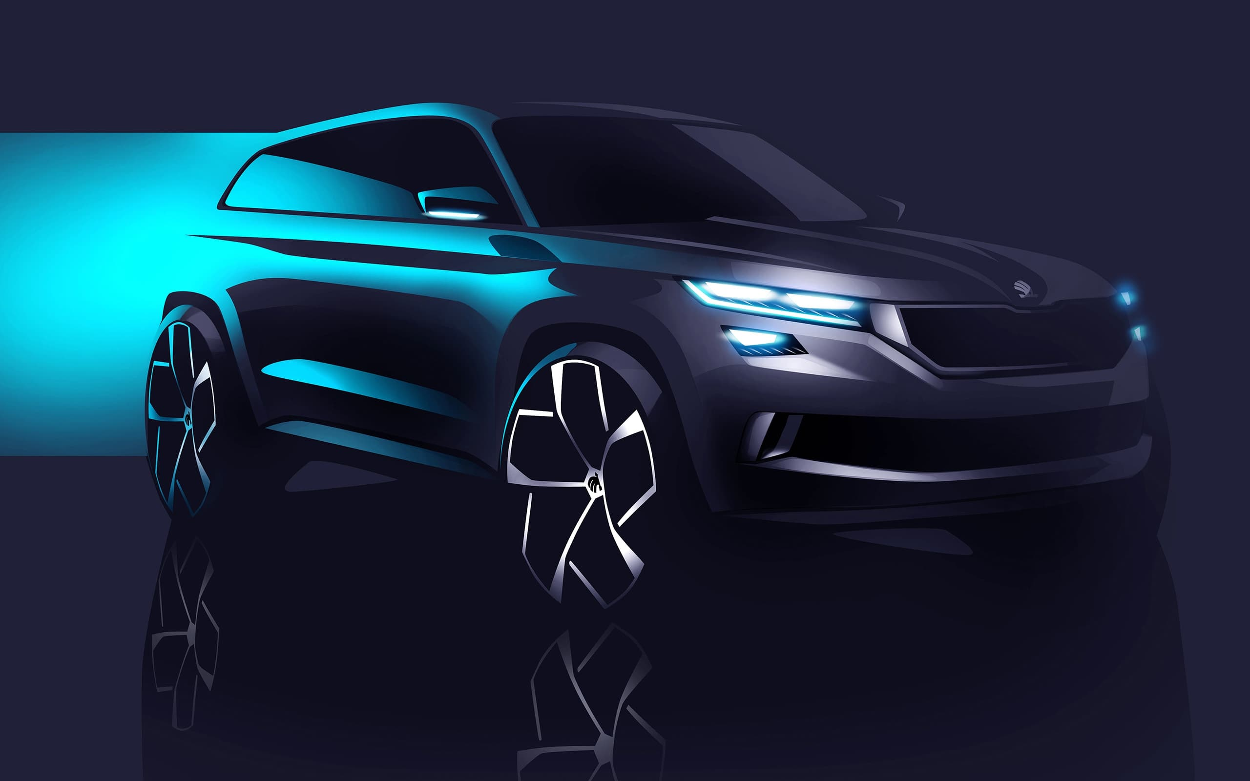 Bmw Blue Cars Wallpapers 2016 Skoda Vision S Concept Wallpapers Blue Green High