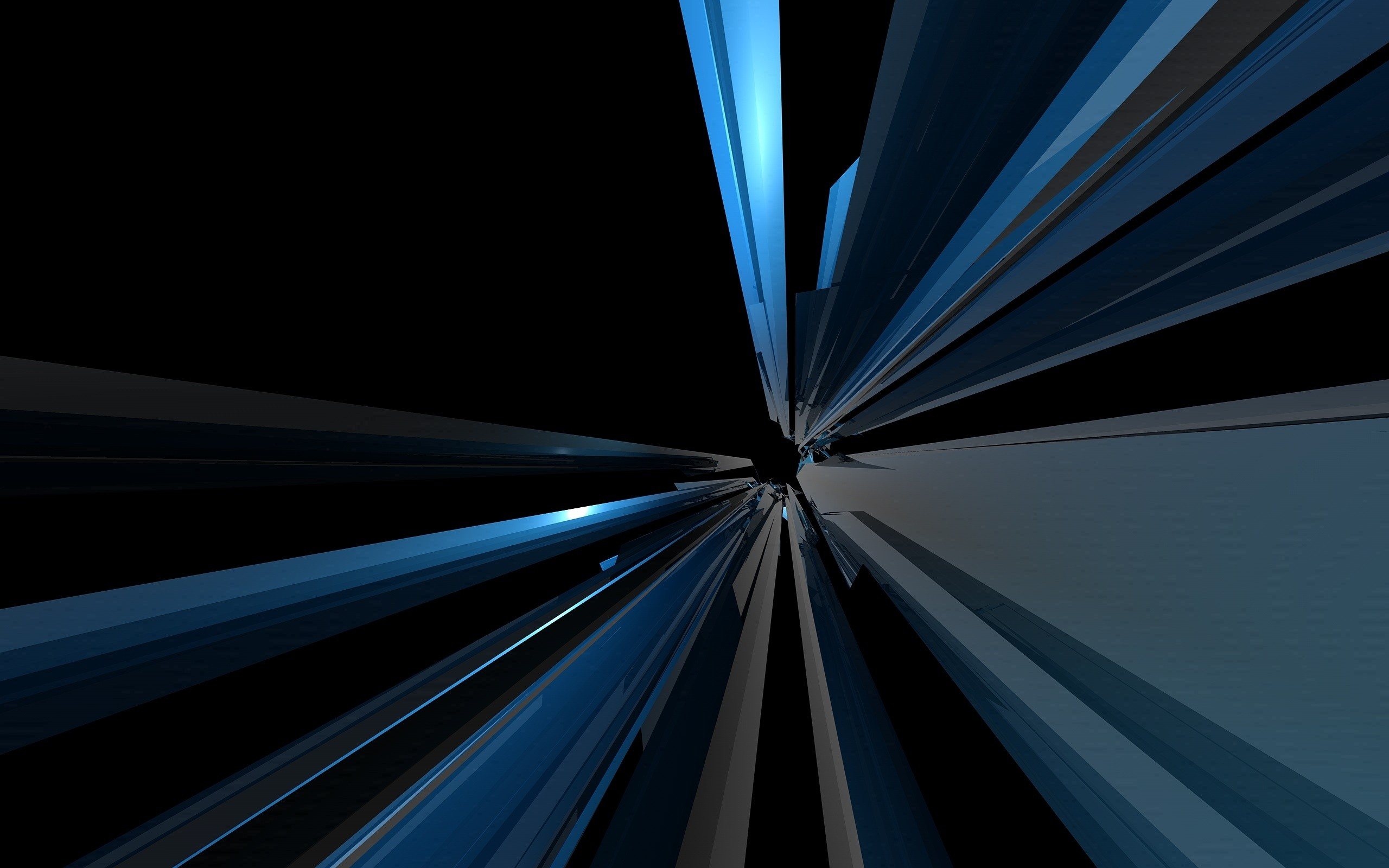 2560x1600 Abstract Blue Lines desktop PC and Mac wallpaper
