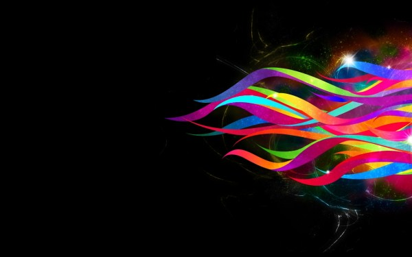 Abstract Ribbons Rainbow Wallpapers