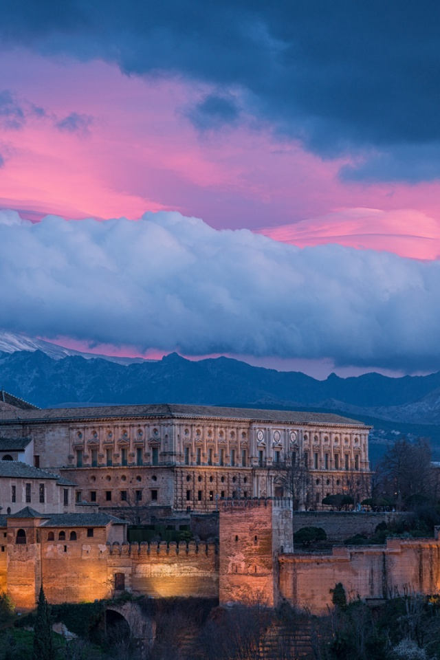 Os X Wallpaper For Iphone 640x960 Alhambra Spain Iphone 4 Wallpaper