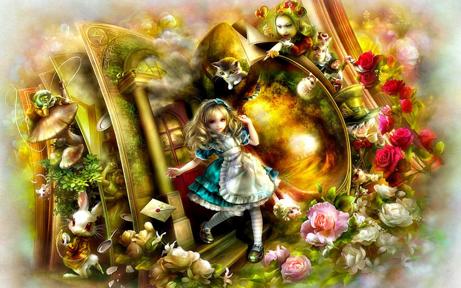 Brunette Girl Wallpapers Cartoon Alice Im Wunderland Hintergrundbilder Alice Im