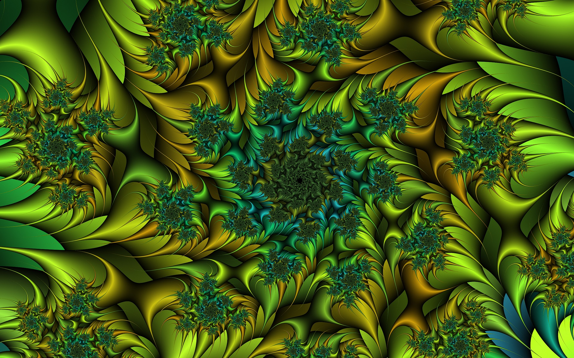 Animated Jungle Wallpaper Amazing Green Fractal Flower Wallpapers Amazing Green