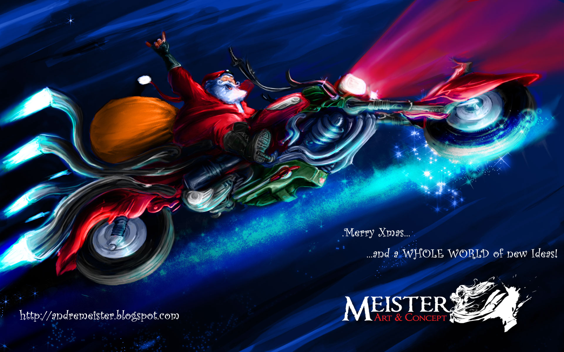 Biker Santa Wallpapers Biker Santa Stock Photos