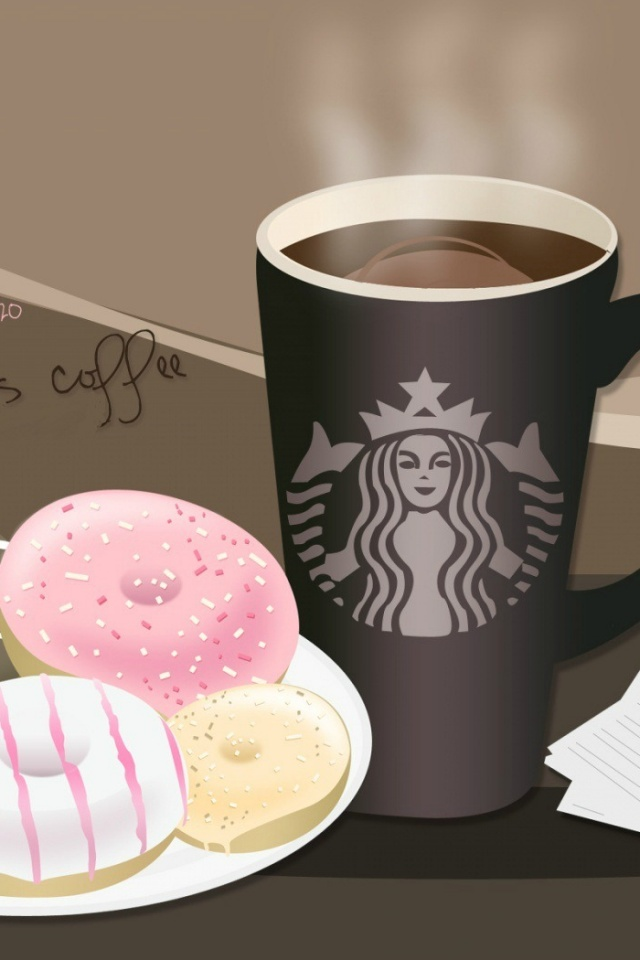 Cute Wallpapers Of Starbucks 640x960 Coffee Iphone 4 Wallpaper