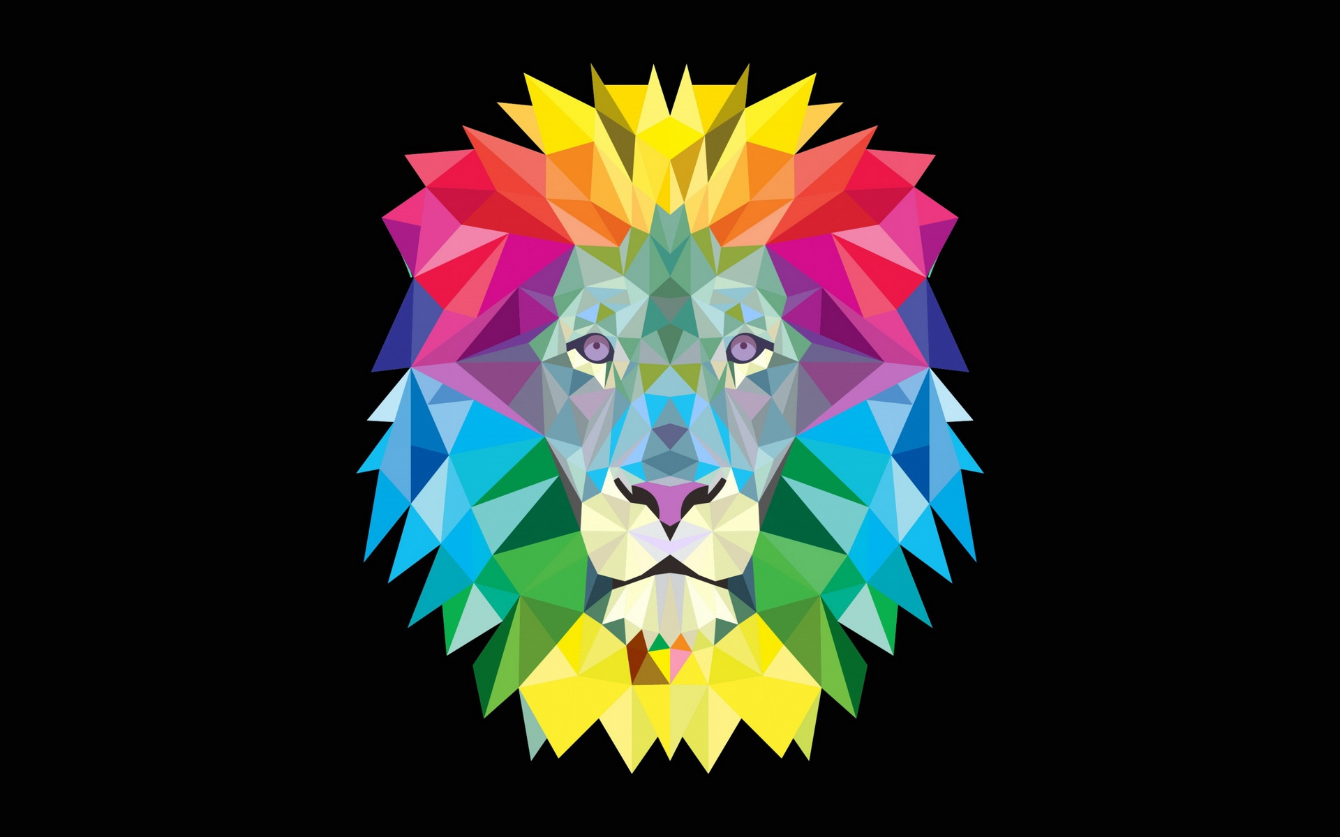 Cool Iphone X Wallpapers 2018 Colorful Geometric Lion Wallpapers Colorful Geometric