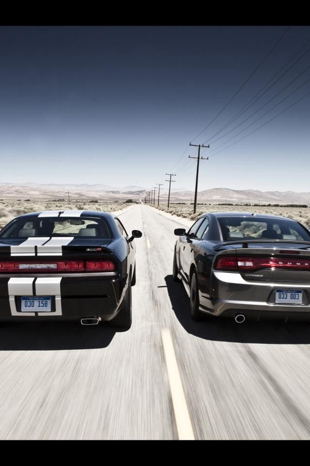 Dodge Charger Car Wallpapers 640x960 Dodge Challenger Srt8 Charger Srt8 Iphone 4 Wallpaper