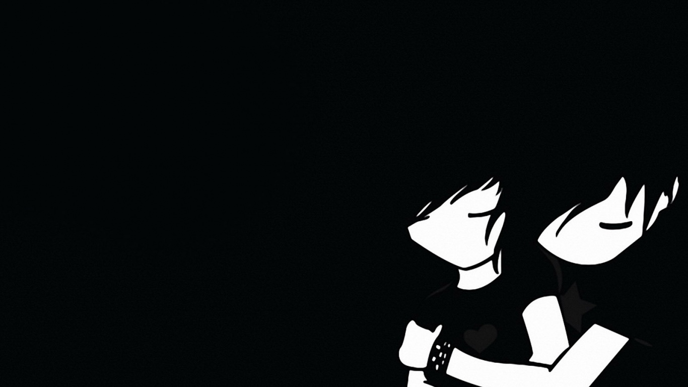 Download Sad Emo Girl Wallpaper 1366x768 Emo Boy And Girl Desktop Pc And Mac Wallpaper