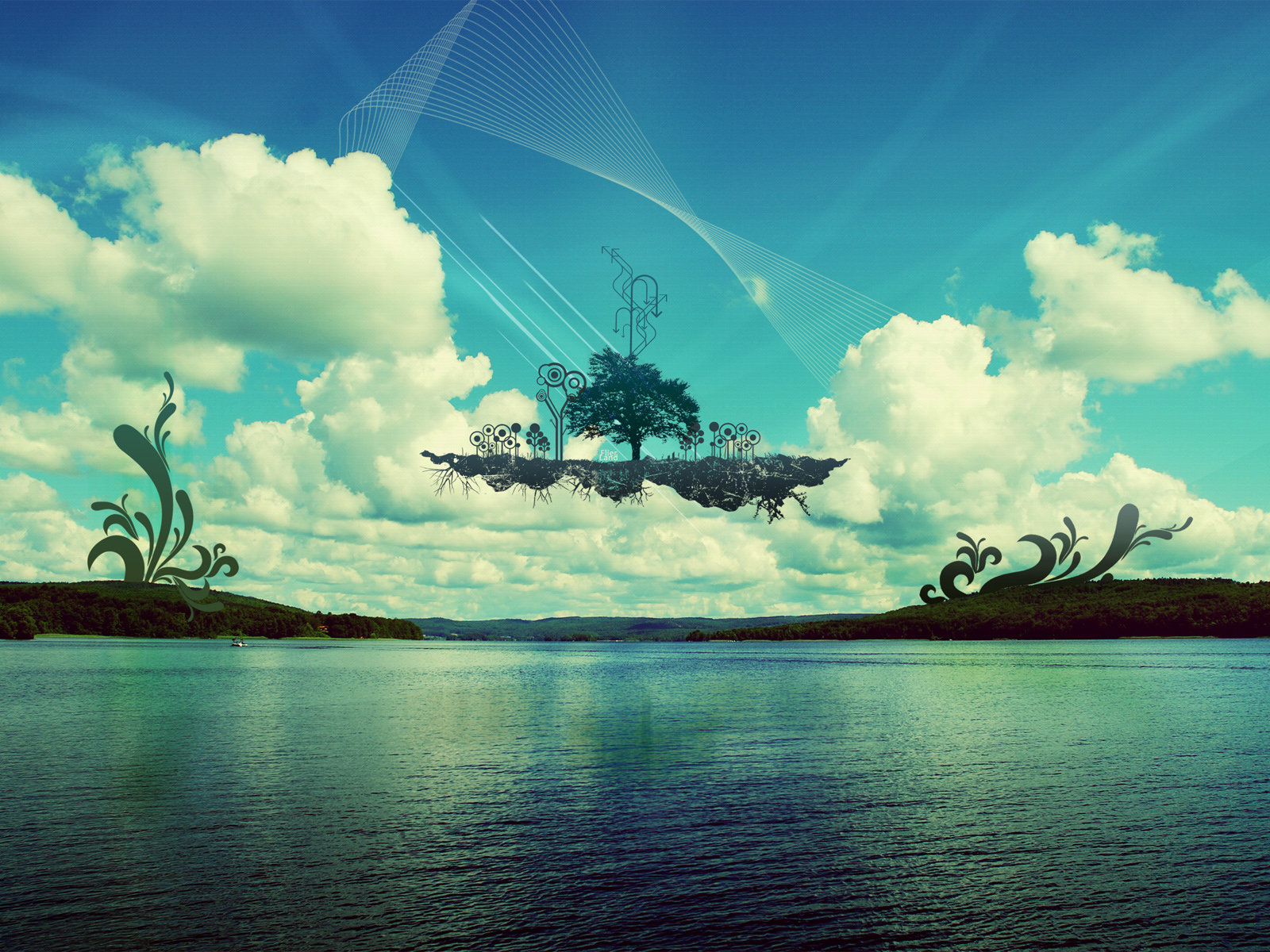 Oblivion Iphone Wallpaper Floating Island Wallpapers Floating Island Stock Photos