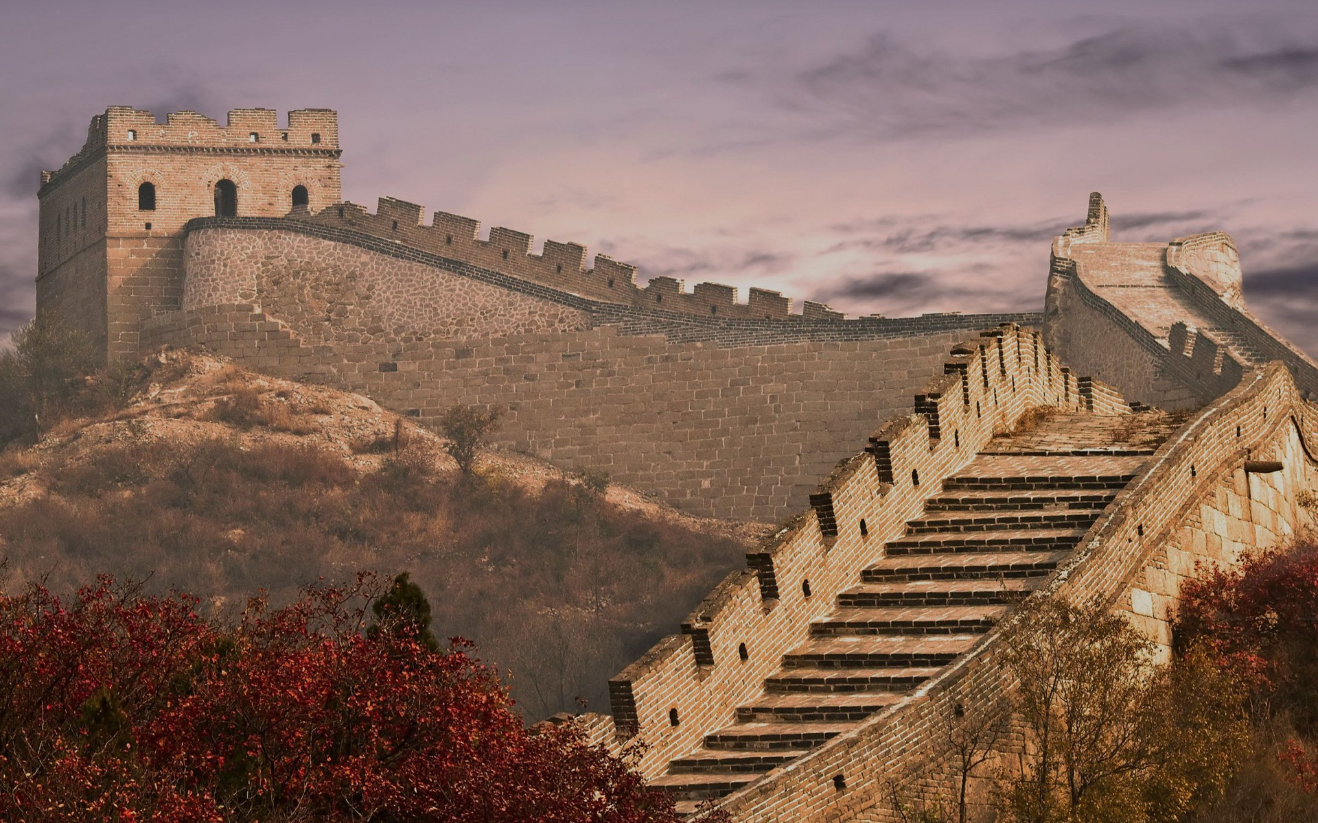 Beautiful Colorful Girls Anime Wallpaper Great Wall Of China Twelve Wallpapers Great Wall Of