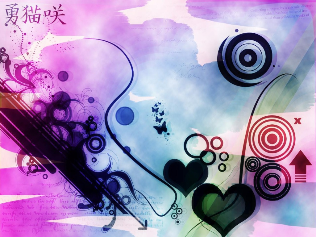 1024x768 Hearts for abstract desktop wallpapers and stock photos