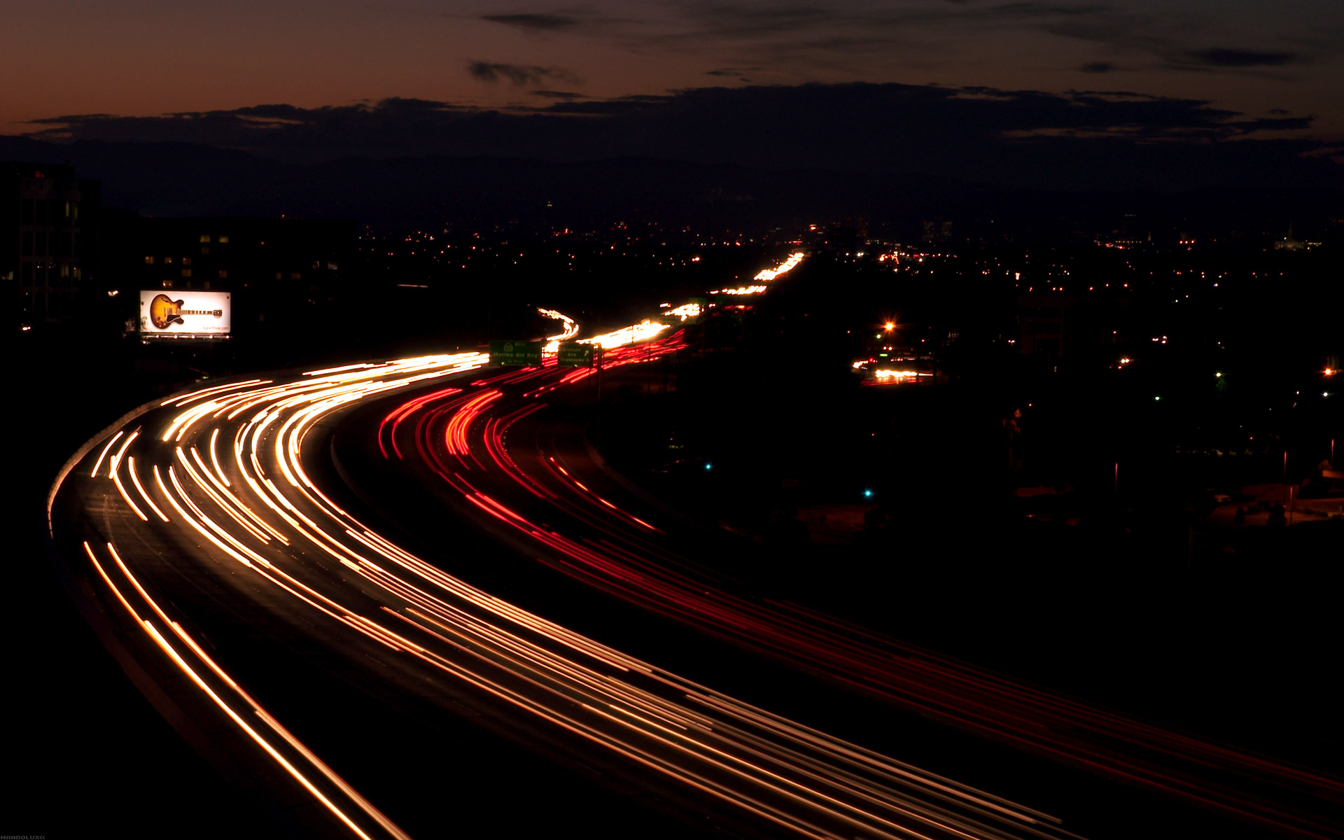 1920x1200 Highway at night desktop wallpapers and stock photos
