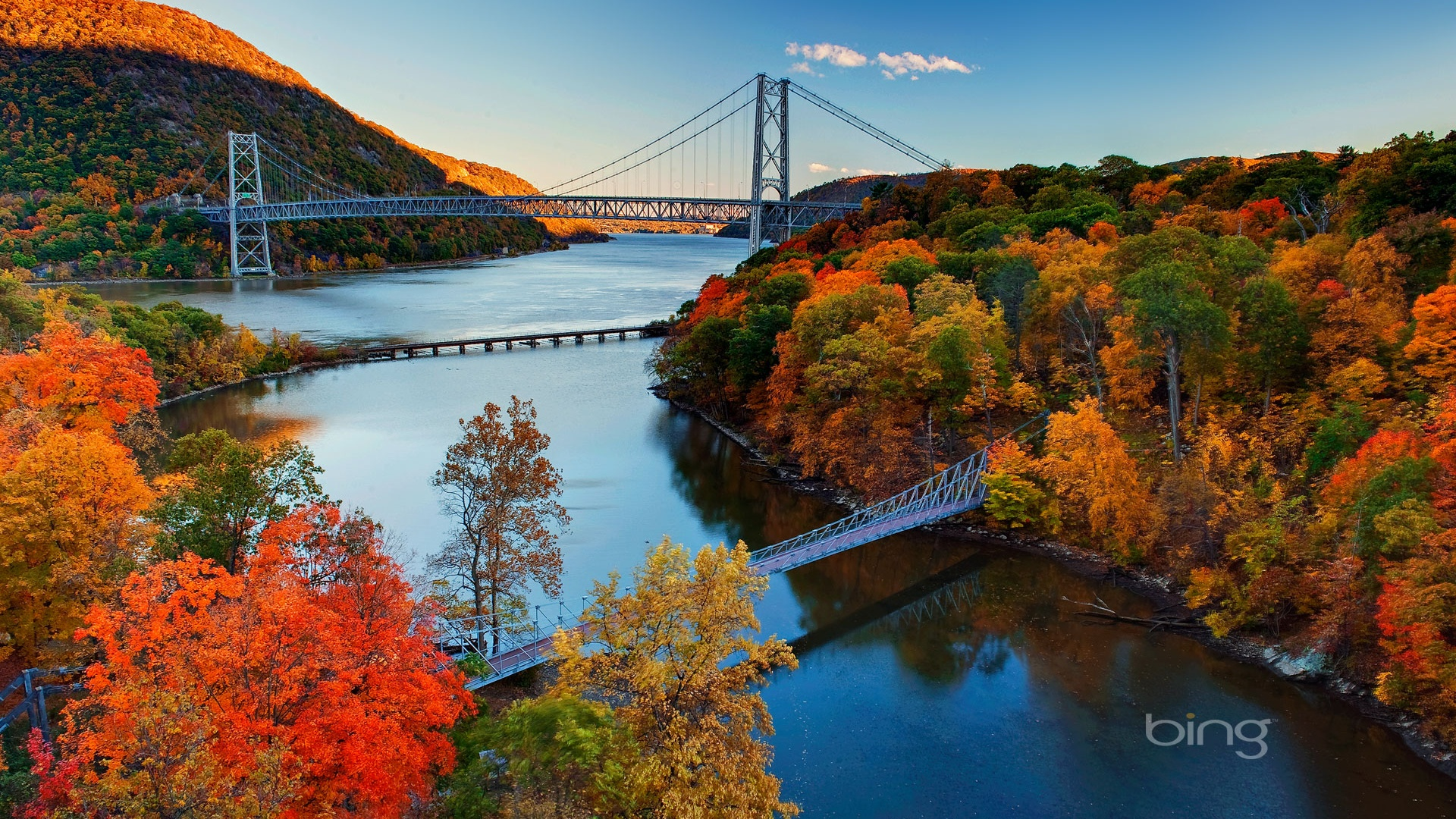 Fall Mac Wallpaper 1920x1080 Hudson River Valley Autumn Desktop Pc And Mac