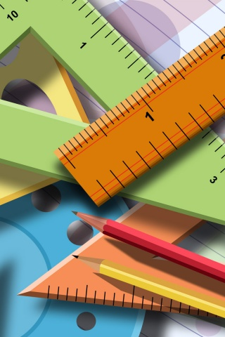 Colourful Iphone X Wallpaper 320x480 Mathematical Tools Iphone 3g Wallpaper