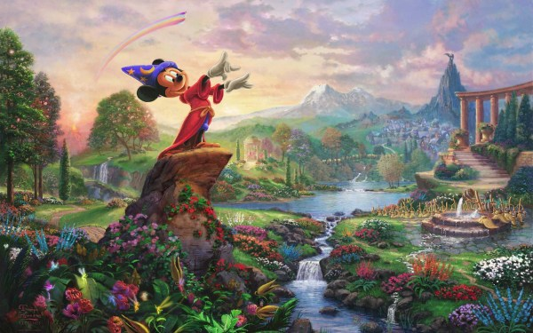 Mickey Mouse Fantasia Wallpapers Stock