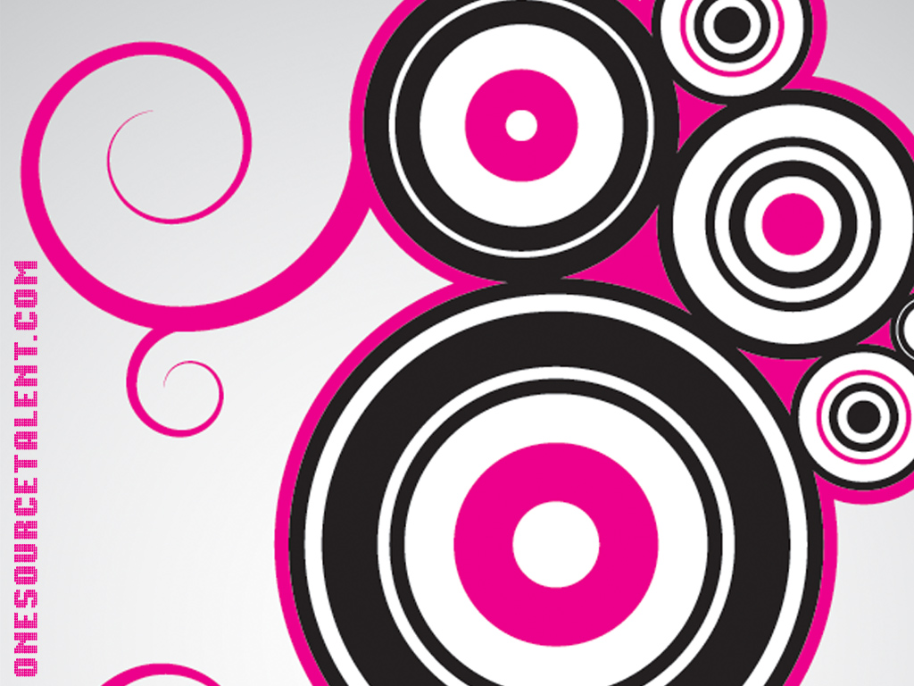 Black And White Home Wallpaper 1024x768 One Source Talent Pink Circles Desktop Pc And Mac