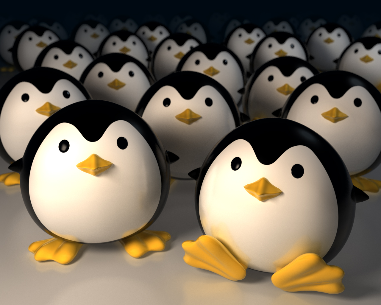 Cute Little Girl Cartoon Wallpaper Penguin Invasion Wallpapers Penguin Invasion Stock Photos