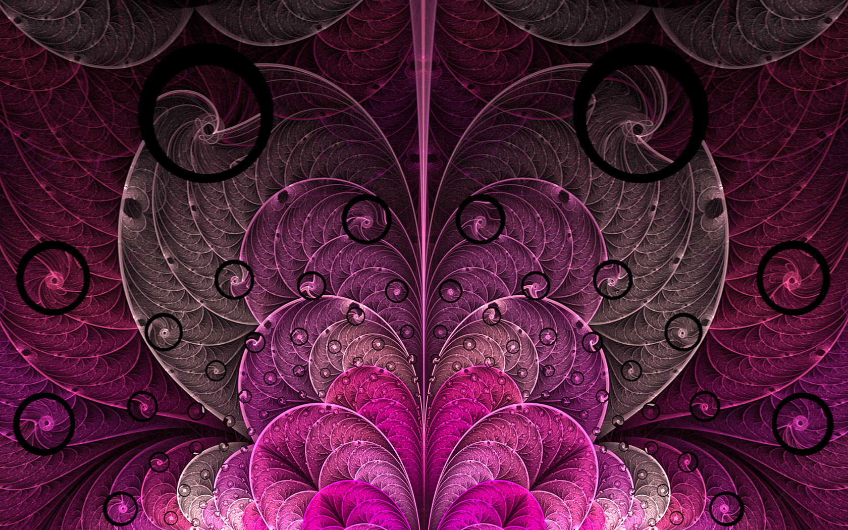 Neon Fall Wallpapers Pink Amp Purple Hearts Fractal Wallpapers Pink Amp Purple