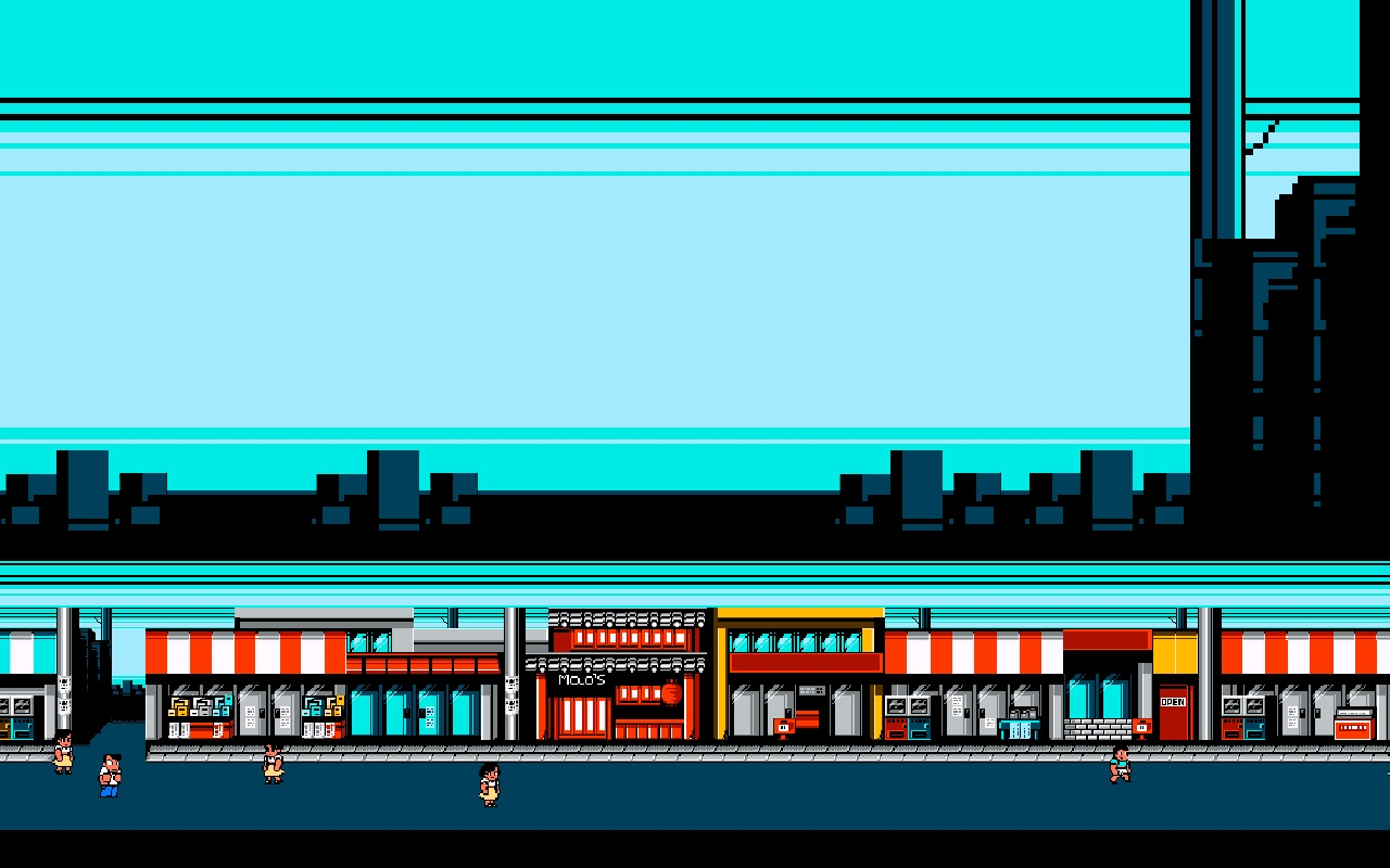1280x800 Retro River City Ransom desktop PC and Mac wallpaper