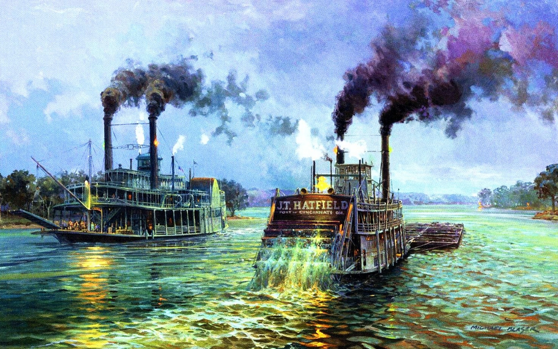 Animated Wallpaper For Tablet River Steam Boats Mississippi Wallpapers River Steam