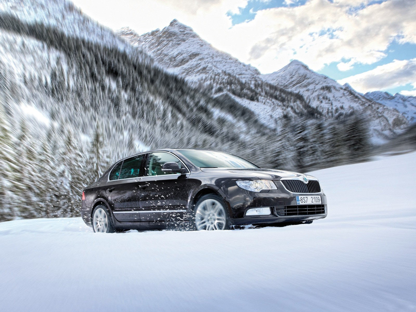 Rally Car Wallpaper Snow Skoda Superb Im Schnee Hintergrundbilder Skoda Superb Im