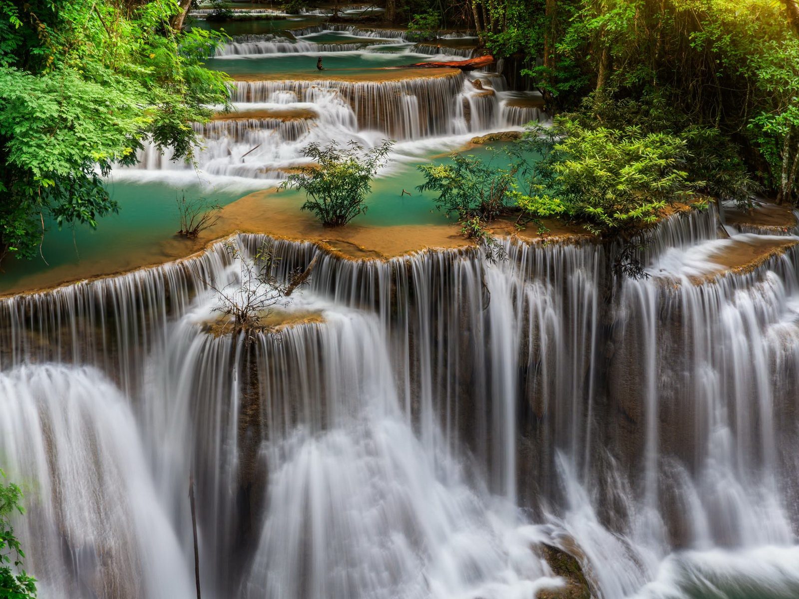 1600x1200 Thailand Waterfall Landscape Desktop Pc And Mac