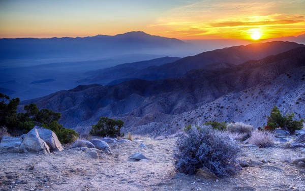 Amazing Sunset Mountains Wallpapers Stock