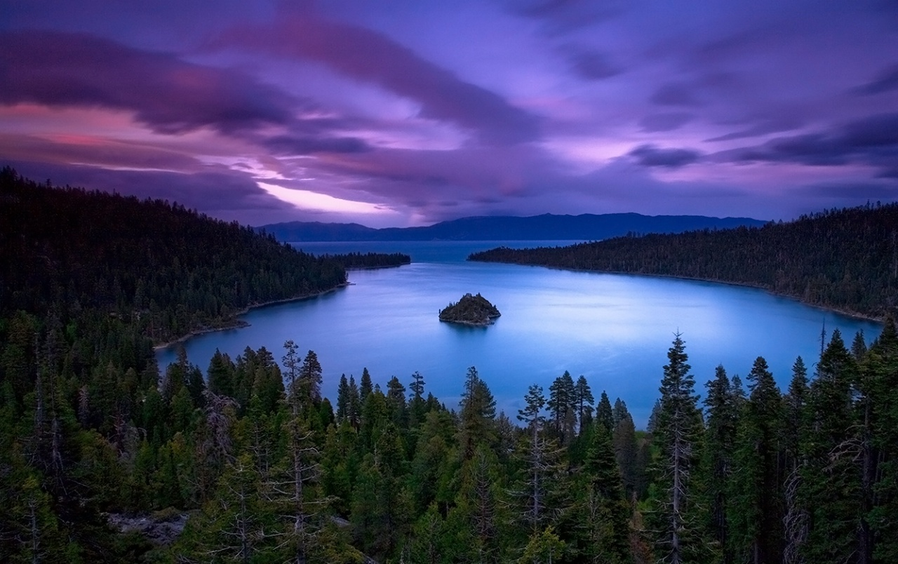 Clouds Forest Amp Lake Circle Wallpapers Clouds Forest