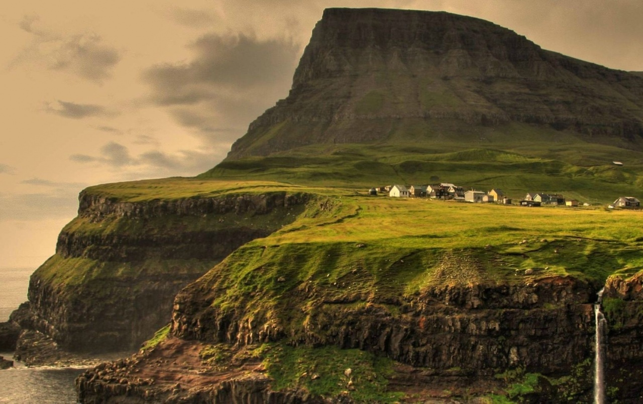 Iceland Wallpaper Iphone X Cliff Nature Waterfall Village Wallpapers Cliff Nature