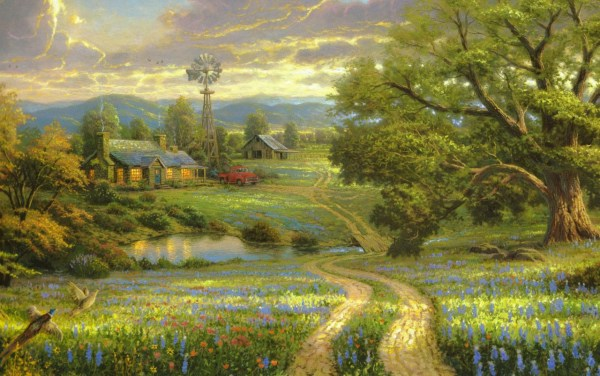 Painting Scenery Wallpapers Stock