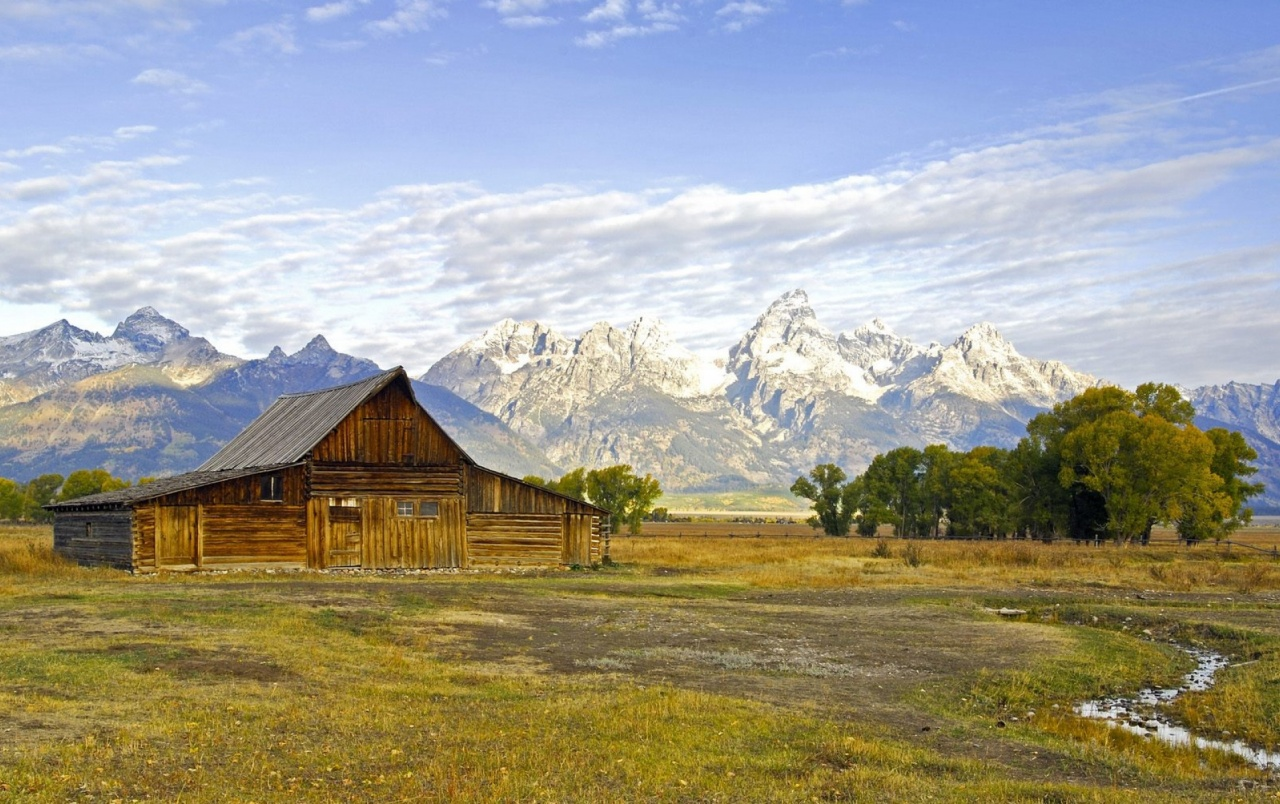 Wallpaper Fall Farmhouse House Wooden Scenery Wyoming Wallpapers House Wooden