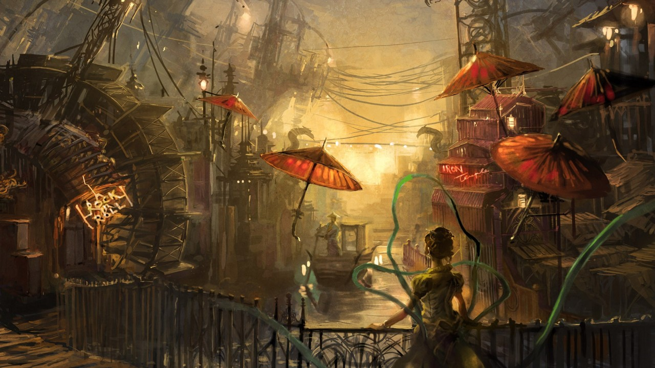 Fall Ipad Wallpaper Hd Steampunk Anime Water Painting Wallpapers Steampunk