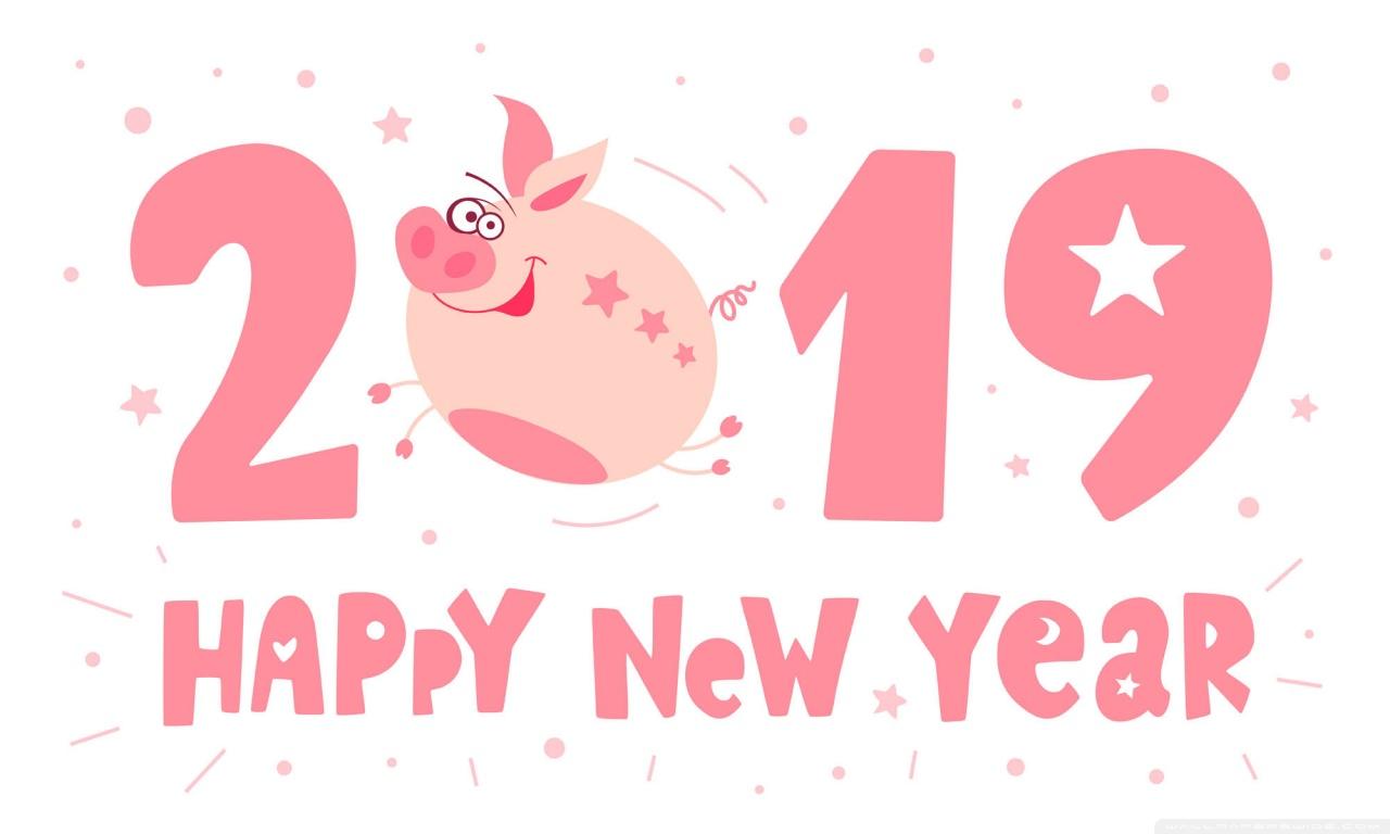 Cute Japanese Wallpaper 1366x768 2019 Happy New Pig Year 4k Hd Desktop Wallpaper For 4k
