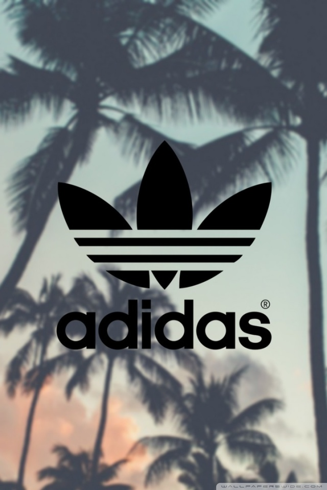 Adidas Palm Trees Background 4K HD Desktop Wallpaper for