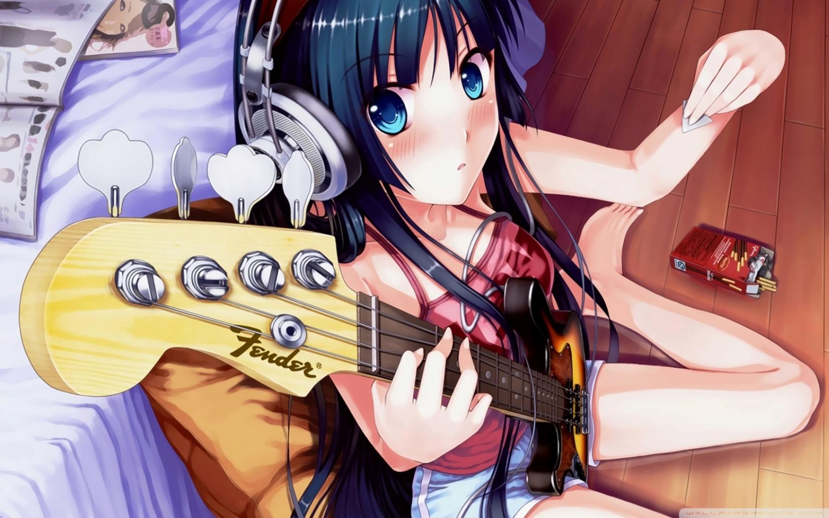 Http Wallpaperswide Com Girl Playing Guitar Wallpapers Street Dimension Ninja Album Athenarium Youtube