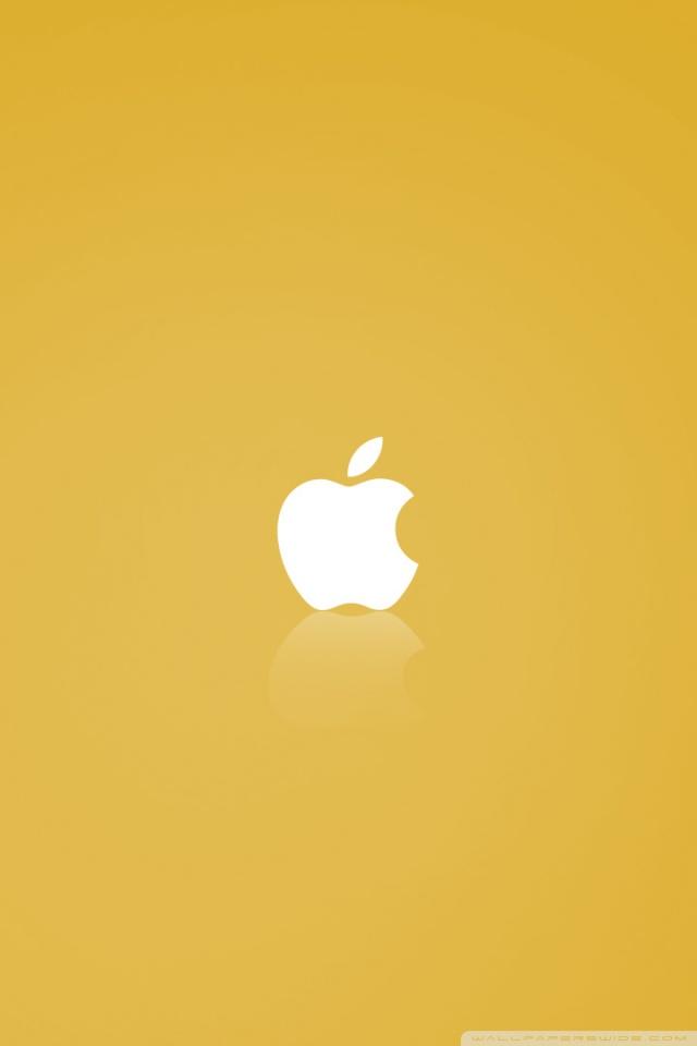 Glossier Iphone Wallpaper Apple Mac Os X Yellow Ultra Hd Desktop Background