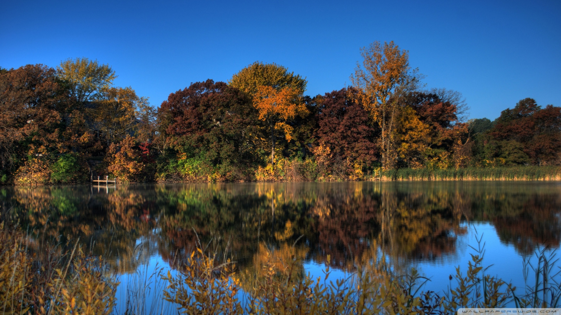Fall Wallpaper Dual Monitor Autumn Pond Eagan Minnesota 4k Hd Desktop Wallpaper For