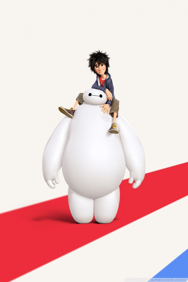 Big Hero 6 Disney Hiro and Baymax 4K HD Desktop Wallpaper