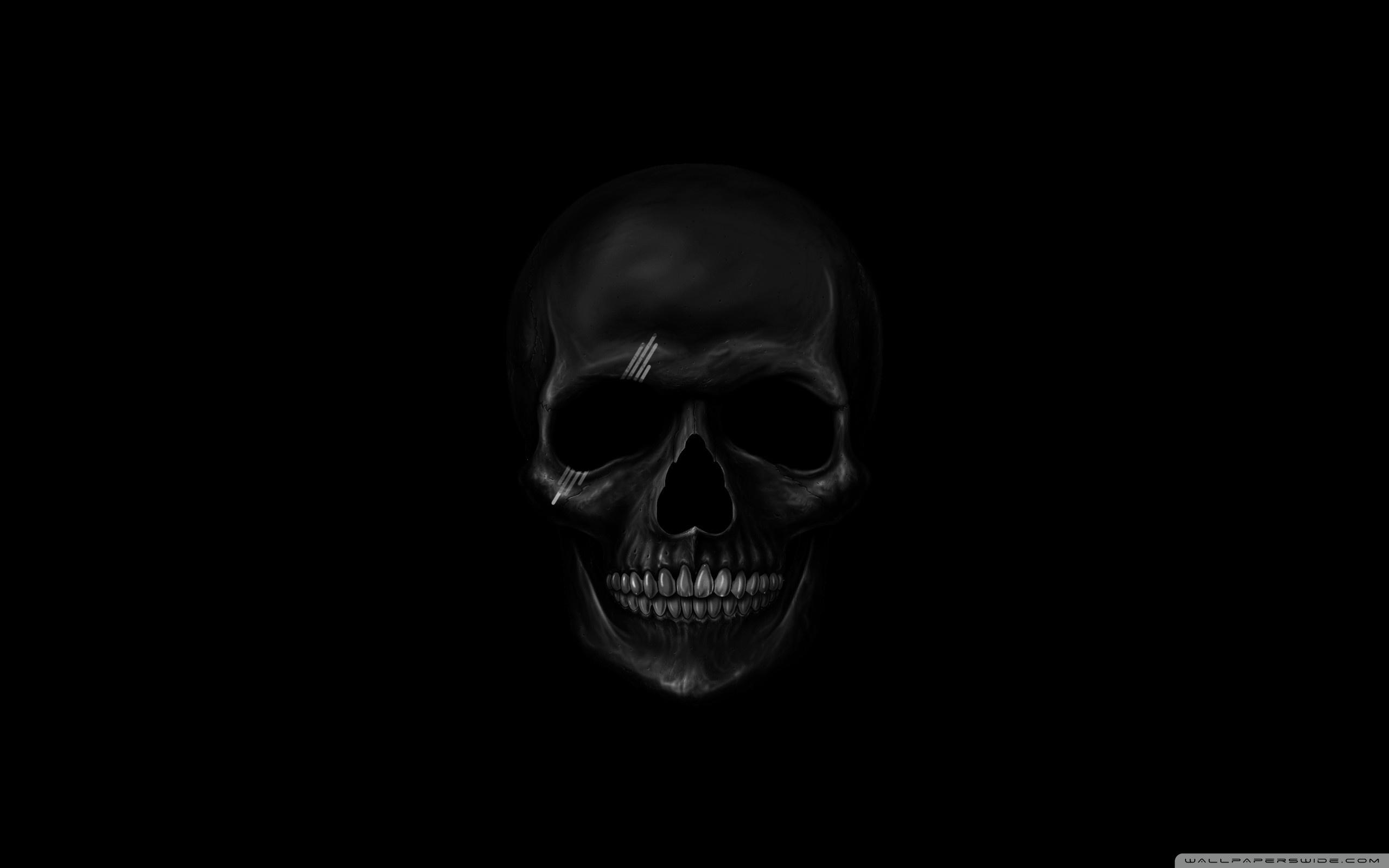 black skull 4k hd