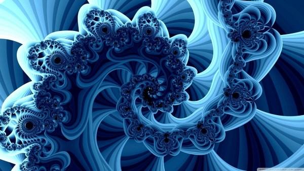 Blue Fractals 4k Hd Desktop Wallpaper Ultra Tv
