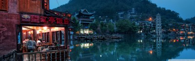 Chinese Town 4K HD Desktop Wallpaper for • Dual Monitor ...