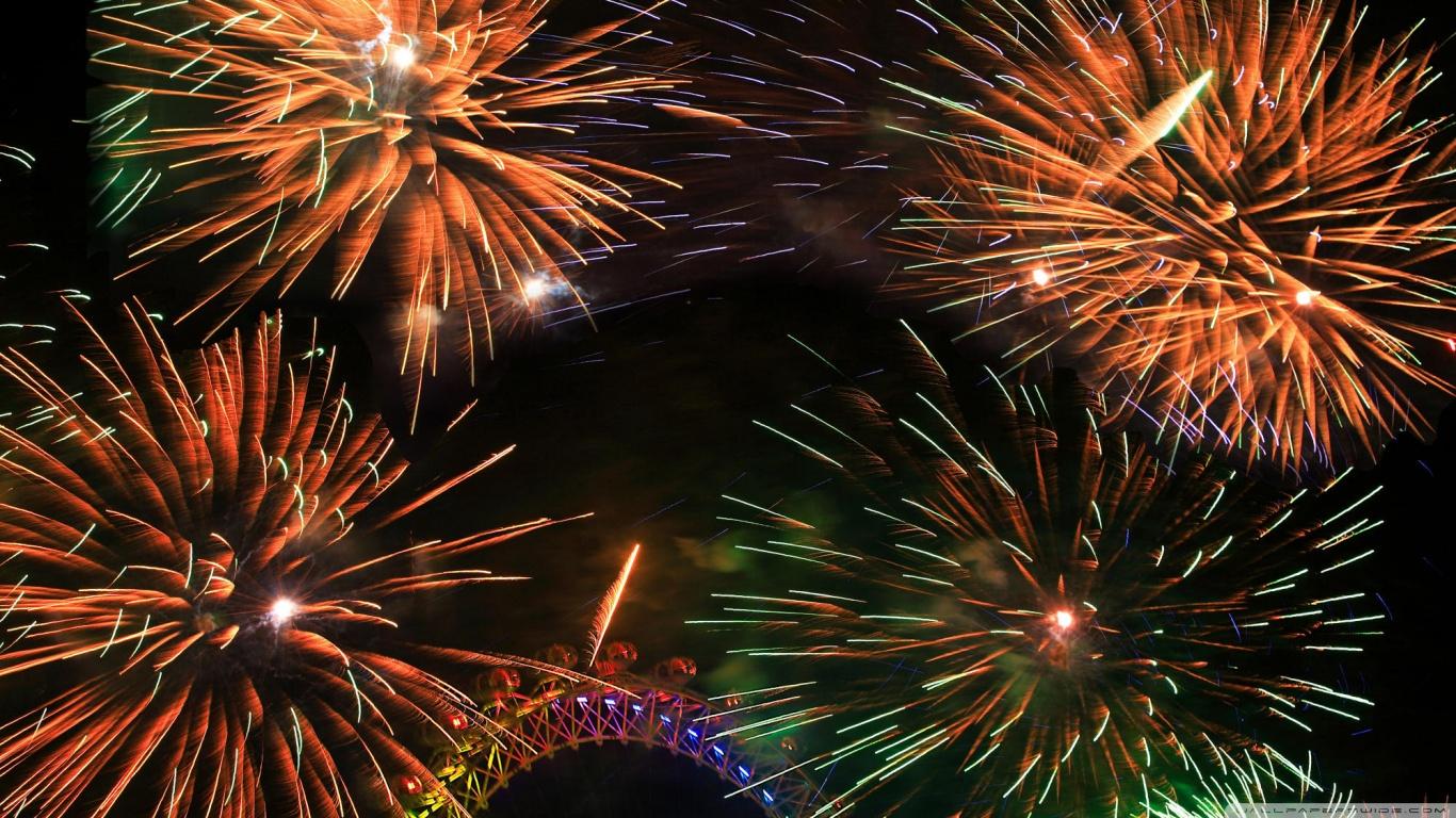 Animated Happy Birthday Wallpaper Free Download Colorful Fireworks 4k Hd Desktop Wallpaper For 4k Ultra Hd