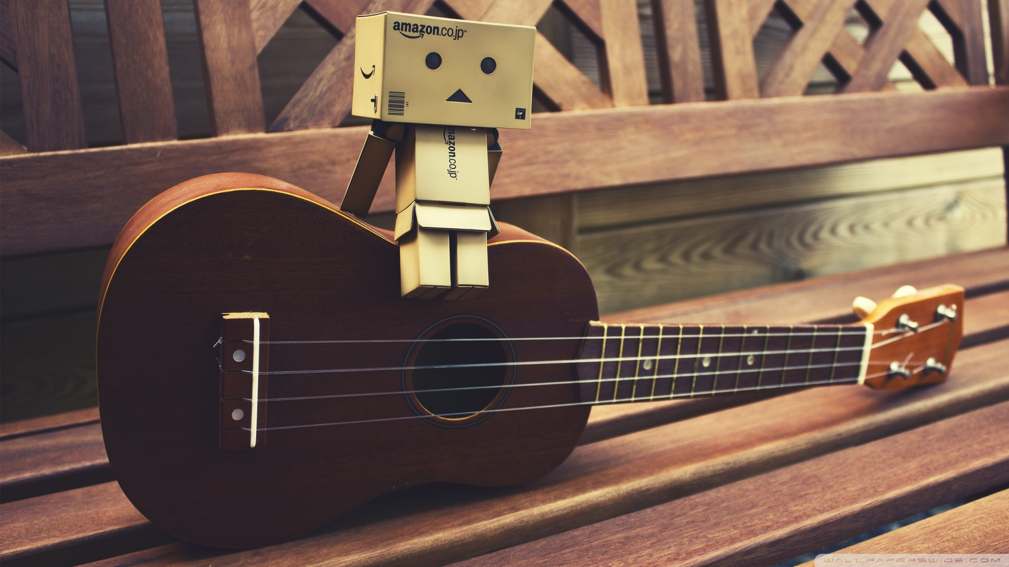 Cute Ukulele Wallpaper Danbo Guitar 4k Hd Desktop Wallpaper For 4k Ultra Hd Tv