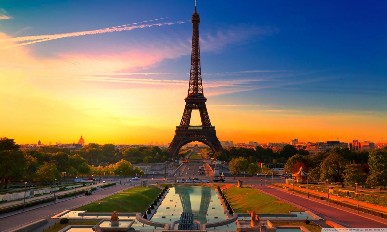 Eiffel Tower at Sunrise HD desktop wallpaper : High ...