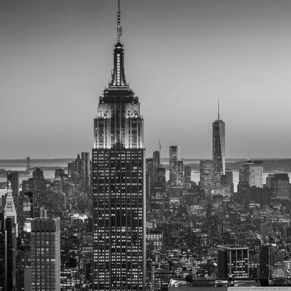 Empire State Building York City - Monochrome 4k Hd Desktop Wallpaper Ultra Tv
