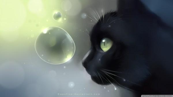 Cute Black Cat Anime